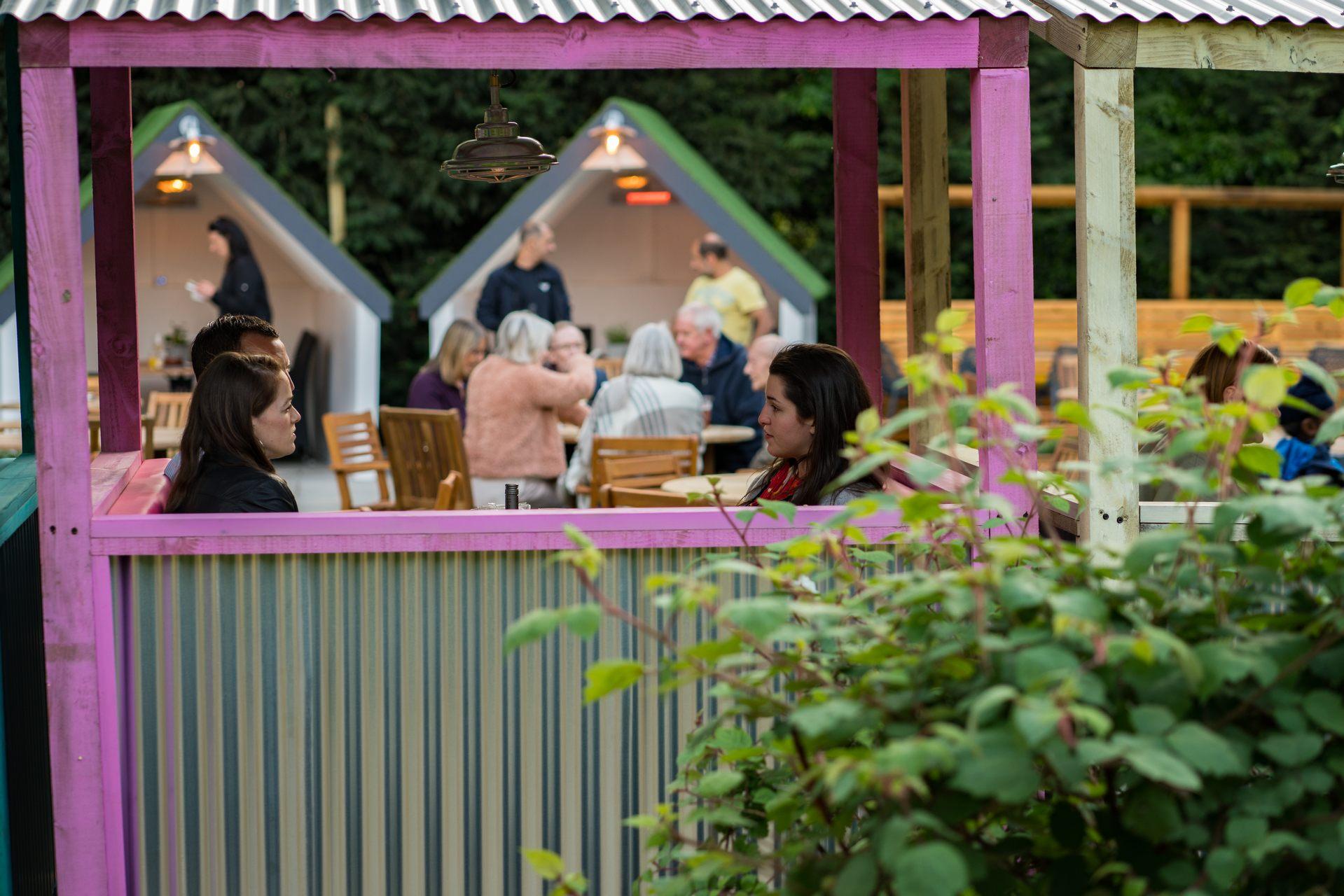 pink hut